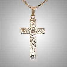 Floral Cross Gold Keepsake Jewelry