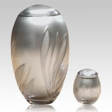 Crystal Bloom Glass Cremation Urns