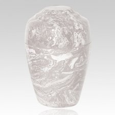 White Marble Pet Cremation Urn
