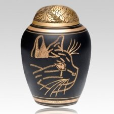 Curious Cat Cremation Urn