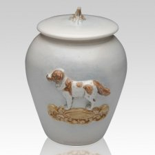 Saint Bernard Ceramic Cremation Urn