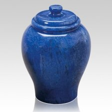 Blue Sky Large Marble Cremation Urn
