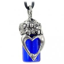 Mother & Child Blue Cremation Necklace