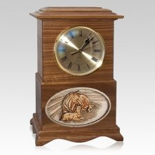 Daddys Love Clock Walnut Cremation Urn