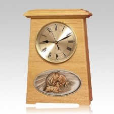 Daddys Love Astoria Clock Oak Cremation Urn