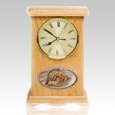 Daddys Love Clock Oak Cremation Urn