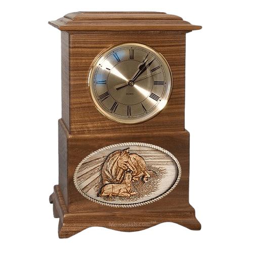 Daddys Love Clock Walnut Cremation Urn
