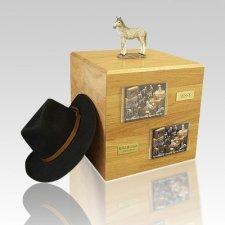 Dapple Gray Standing Full Size Horse Urns