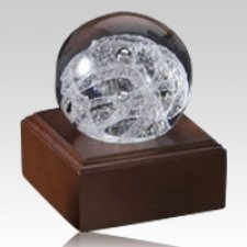 Grand Silver Perpetual Glass Keepsake