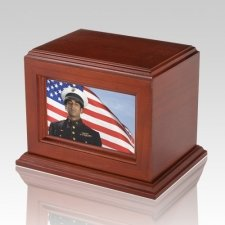 Deluxe Photo Cherry Cremation Urn