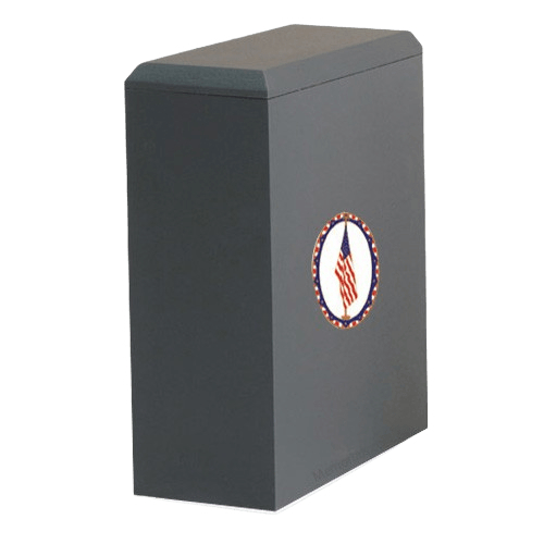 Irish US Flag Cremation Urn