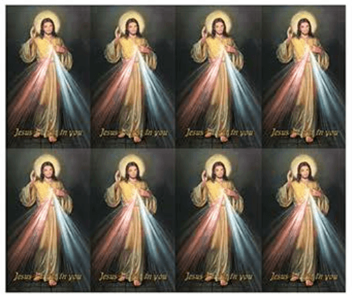 Divine Mercy Prayer Cards