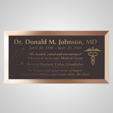 Doctor Bronze Plaque