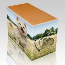 Bailing Hay Oak Pet Picture Urn III