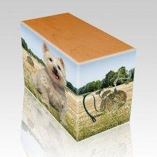 Bailing Hay Oak Pet Picture Urn II