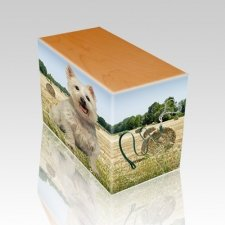Bailing Hay Oak Pet Picture Urn