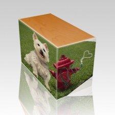 Fire Hydrant Oak Pet Picture Urn