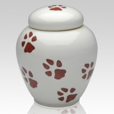 Dog Paws Ceramic Cremation Urn