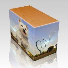 Rainbow Oak Pet Picture Urn II