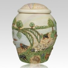 Rainbow Bridge Dog Cremation Urn II
