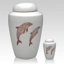 Dolphin Ceramic Cremation Urns