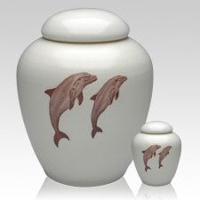 Peaceful Dolphins Cremation Urns