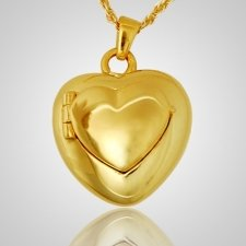 Double Heart Locket Keepsake Pendant IV