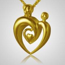 Double Parent Heart Keepsake Pendant IV