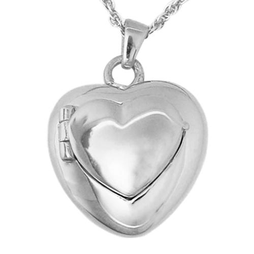 Double Heart Locket Keepsake Pendant