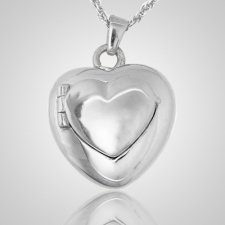 Double Heart Locket Keepsake Pendant III