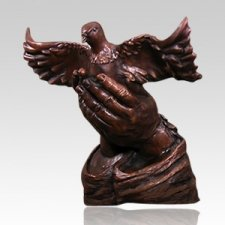 Flying Dove Bronze Cremation Urn