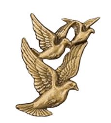 Doves in Flight Medallion Appliques