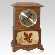 Clock Walnut Cremation Urns