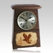Eagle Astoria Clock Walnut Cremation Urn