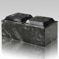 Ebony Marble Companion Cremation Urn