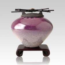 Raku Purple Large Cremation Urn