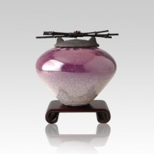 Raku Purple Small Cremation Urn