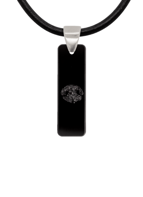 Black Noseprint Bar Pendant