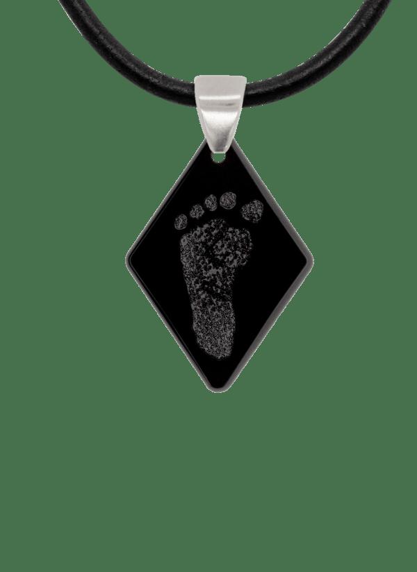 Black Footprint Diamond Pendant