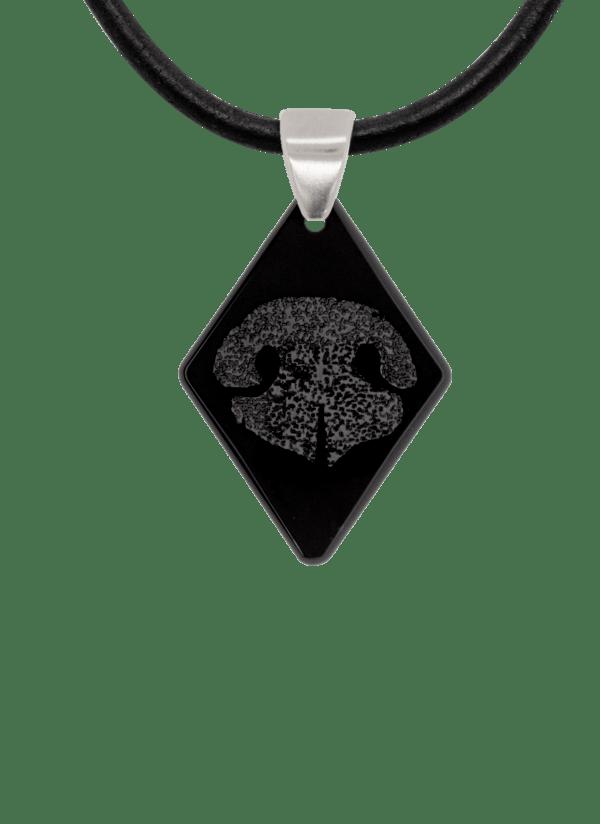 Black Noseprint Diamond Pendant