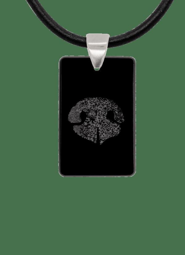Black Noseprint Keepsake Pendant