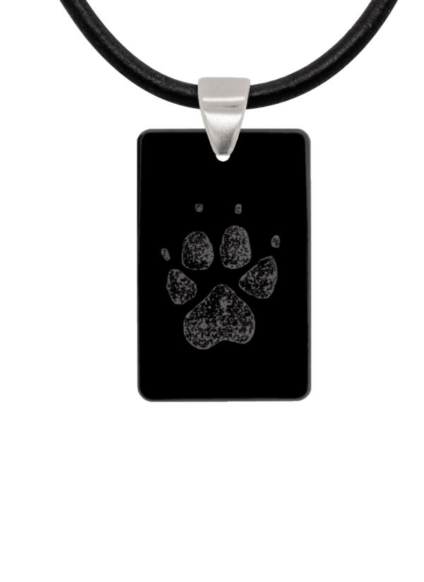 Black Pawprint Keepsake Pendant