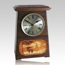 Elk Astoria Clock Walnut Cremation Urn