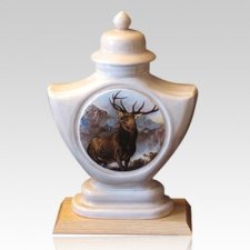Elk Ceramic Cremation Urn