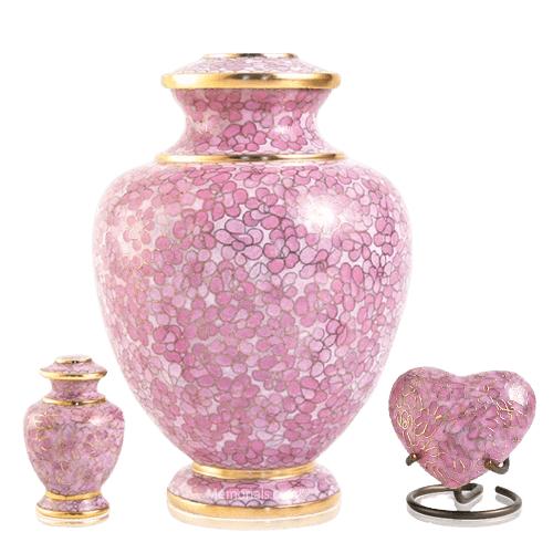 Rose Essence Cloisonne Cremation Urns