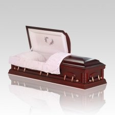 Esther Light Cherry Wood Casket