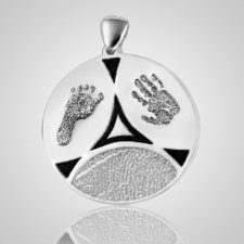 Family 3 Print Sterling Silver Keepsake