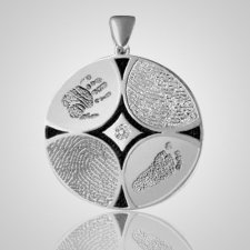Family 4 Print Sterling Silver Keepsake
