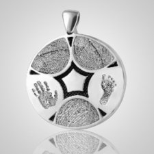 Family 5 Print Sterling Silver Keepsake