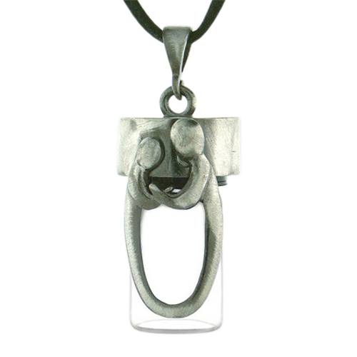 Daddy & Child Cremation Necklace